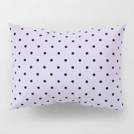 Small Black Polka Dots On Lilac Background Pillow Sham
