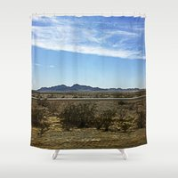desert Shower Curtains featuring Desert by Rachel Butler