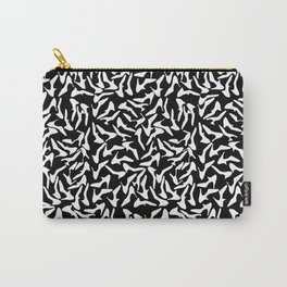 Shoes White on Black Carry-All Pouch