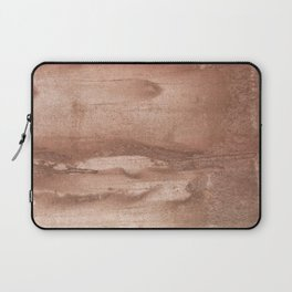 Brown abstract watercolor Laptop Sleeve