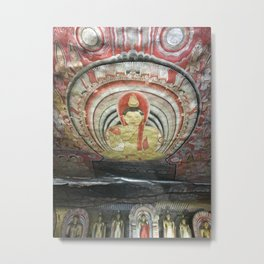 Cave Temple Wall Metal Print
