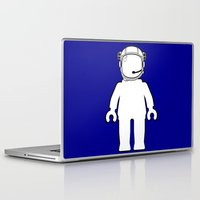 banksy Laptop & iPad Skins featuring BANKSY STYLE ASTRONAUT MINIFIG by Chillee Wilson by Chillee Wilson [Customize My Minifig]