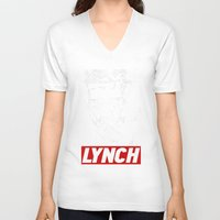 lynch V-neck T-shirts featuring David Lynch by Spyck