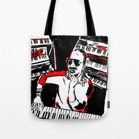 stevie nicks Tote Bags featuring Stevie by Sam Ayres