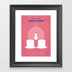 No241 My Dumb & Dumber minimal movie poster Framed Art Print