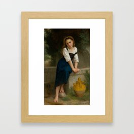 """William-Adolphe Bouguereau """"Orpheline à la fontaine ( Orphan at the fountain)"""" Framed Art Print"""