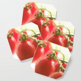 Italian tomatoes in green light Coaster