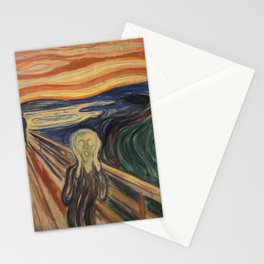 The Scream, Edvard Munch, classic painting Stationery Cards