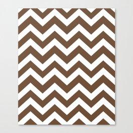 Tuscan brown - brown color - Zigzag Chevron Pattern Canvas Print