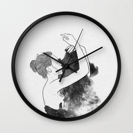 Lonely days of galaxy. Wall Clock
