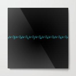Dachshund for Life - Blue / Black Metal Print