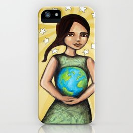 Our Lady of the Earth iPhone Case