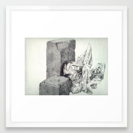 1991 - Still Life Of Stone And Paper (High Res) Framed Art Print