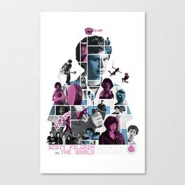 Scott Pilgrim vs. The World Mosaic Poster Canvas Print