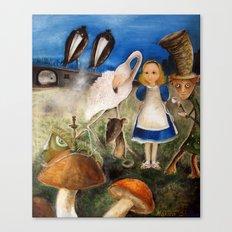 Bird Migration In Wonderland Canvas Print