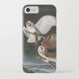 Barn Owls, the Birds of America by John James Audubon iPhone Case