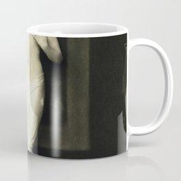 Jean Ackerman Statuesque in Pearls - Ziegfeld Follies Jazz Age black and white photograph Coffee Mug