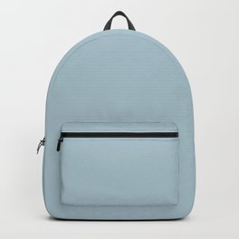 Soft Chalky Pastel Blue Solid Color Backpack