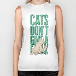 Cats Don't Give a Fuck Biker Tank