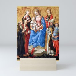 Francesco Pesellino Madonna and Child with Six Saints Mini Art Print