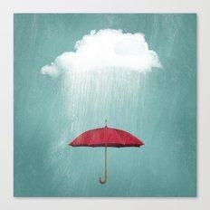 WHITE RAIN Canvas Print