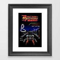 Back to the Videogame Framed Art Print
