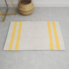 french linen - yellow Rug