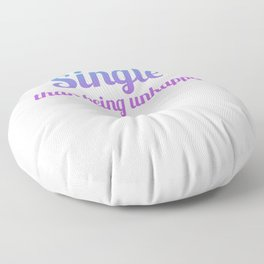 Single Divorced, Separated free spell Floor Pillow