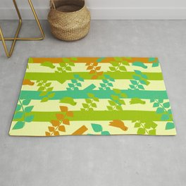Birds and tree trunks Rug