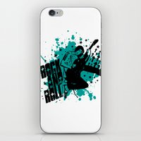 rock and roll iPhone & iPod Skins featuring Rock & Roll by Chamber Decals