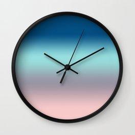 Rose Quartz Lilac Gray Limpet Shell Snorkel Blue Ombre Wall Clock