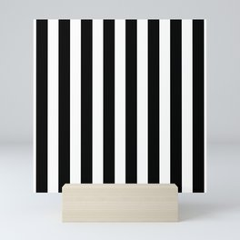 Classic Black and White Football / Soccer Referee Stripes Mini Art Print