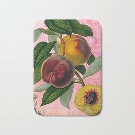 Vintage Botanical Collage, Bradford Peach Bath Mat