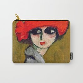 The Corn Poppy, Portrait of a Young Woman by Kees van Dongen Carry-All Pouch
