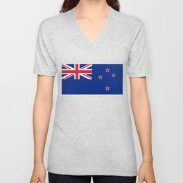 National flag of New Zealand - Authentic version to scale and color Unisex V-Neck