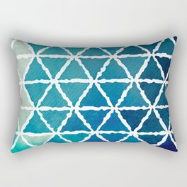Shades of blue Rectangular Pillow