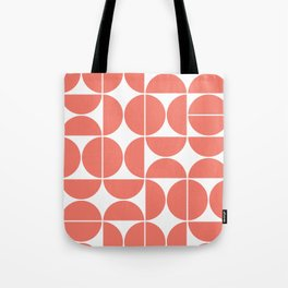 Mid Century Modern Geometric 04 Living Coral Tote Bag
