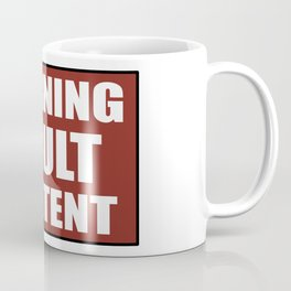 Warning adult content red sign Coffee Mug