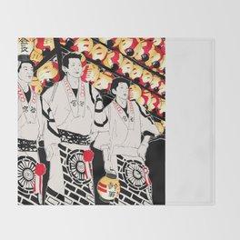 NIHONMATSU chochin matsuri Throw Blanket