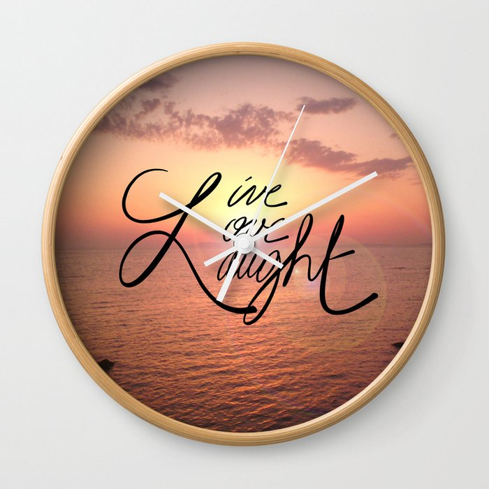 Live, Love, Laught Wall Clock