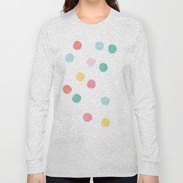 Watercolour spots in multicolour Long Sleeve T-shirt