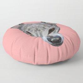 Whippet // Pink Floor Pillow