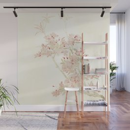 Watercolour of pink blossom Wall Mural