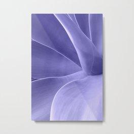Periwinkle Succulent Metal Print