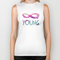 forever young Biker Tanks featuring Forever Young by Jacqueline Maldonado