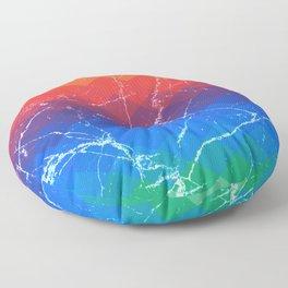 Grunge rainbow rombs Floor Pillow
