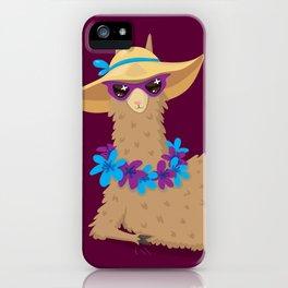 Bahama Llama iPhone Case