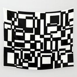 Squares Black´n´White Wall Tapestry