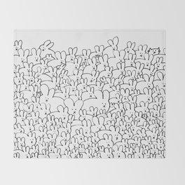 Pile of Buns Part Deux Throw Blanket