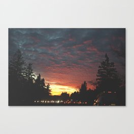 southbound skies. Canvas Print
